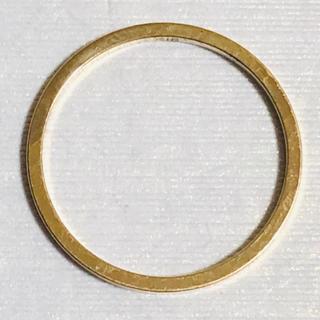 K18 シンプルデザインの指輪 10号