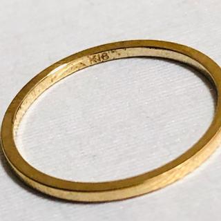 K18 シンプルデザインのリング 5号(リング(指輪))
