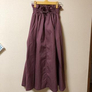 SUGAR SPOON シンプルナチュラルロングスカート(ロングスカート)