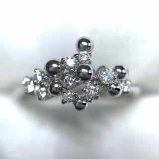 POLA K18WG ダイヤ ファッションリング