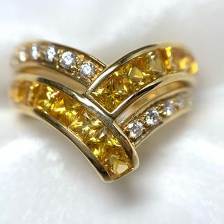 POLA - POLA k18  サファイア ダイヤモンド リング