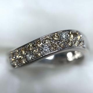 ポーラ(POLA)のPOLA 二重 ダイヤモンド プラチナ リング(リング(指輪))