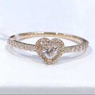 ハートモチーフ♡K18PG ダイヤモンド リング(リング(指輪))
