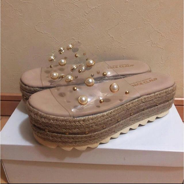 one after another NICE CLAUP(ワンアフターアナザーナイスクラップ)のナイスクラップ サンダル レディースの靴/シューズ(サンダル)の商品写真