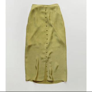 TODAYFUL - TODAYFUL サテンスカートfront button satin skirt