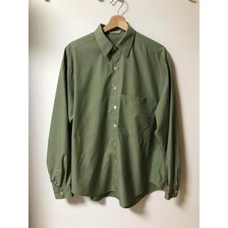 AURALEE finx cotton twill shirts 17aw
