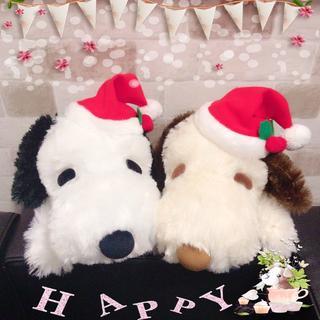 SNOOPY - 【新品】スヌーピー 寝そべりぬいぐるみ クリスマスver.〈全2種〉セット