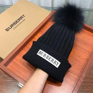 BURBERRY - Burberryバーバリー ニット帽 ビーニー ブラック 男女通用 カワイイ