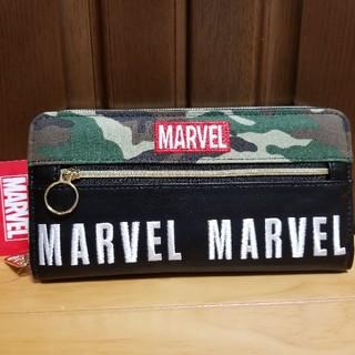 マーベル(MARVEL)の【MARVEL】長財布(迷彩タイプグリーン)(その他)
