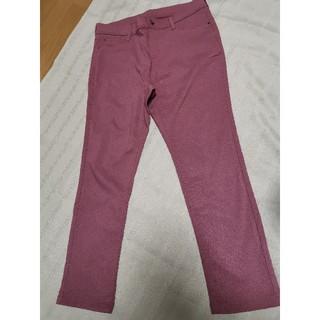 美品 大きいサイズ サーモンピンク パンツ(カジュアルパンツ)
