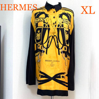 エルメス(Hermes)の【美品】HERMES BRIDES de GALAカシミヤ混シルクセーター XL(ニット/セーター)