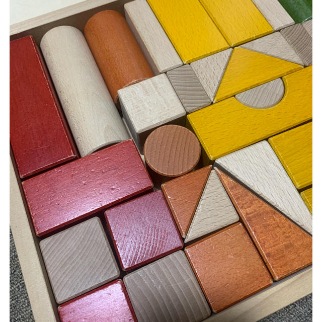 BorneLund(ボーネルンド)のボーネルンド 積木 43ピース ブロック 木製玩具 カラー積木 つみき キッズ/ベビー/マタニティのおもちゃ(積み木/ブロック)の商品写真