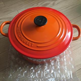 ルクルーゼ(LE CREUSET)のル・クルーゼ  ココットロンド22㎝ オレンジ(鍋/フライパン)