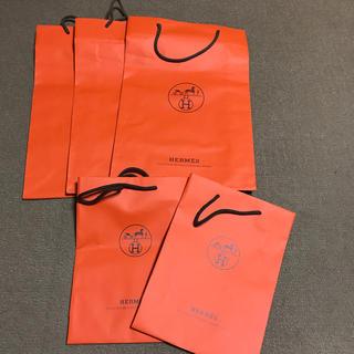 エルメス(Hermes)のエルメスショッパー紙袋⑤枚セットオレンジ正規非売品(ショップ袋)