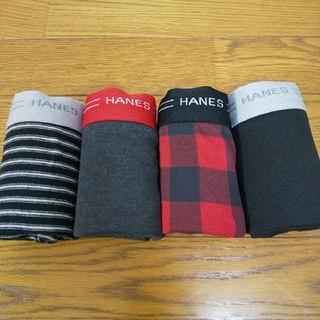 ヘインズ(Hanes)のLLサイズ  ヘインズHANES  ボクサーブリーフ 赤 4枚組(ボクサーパンツ)