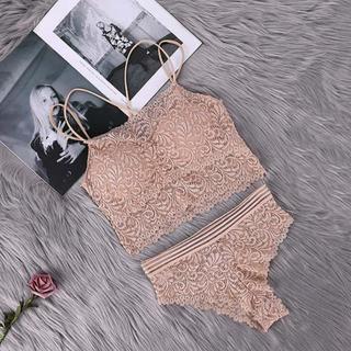 新品✨ショーツ ブラレット セット ホワイト192C フリーサイズ(ブラ&ショーツセット)