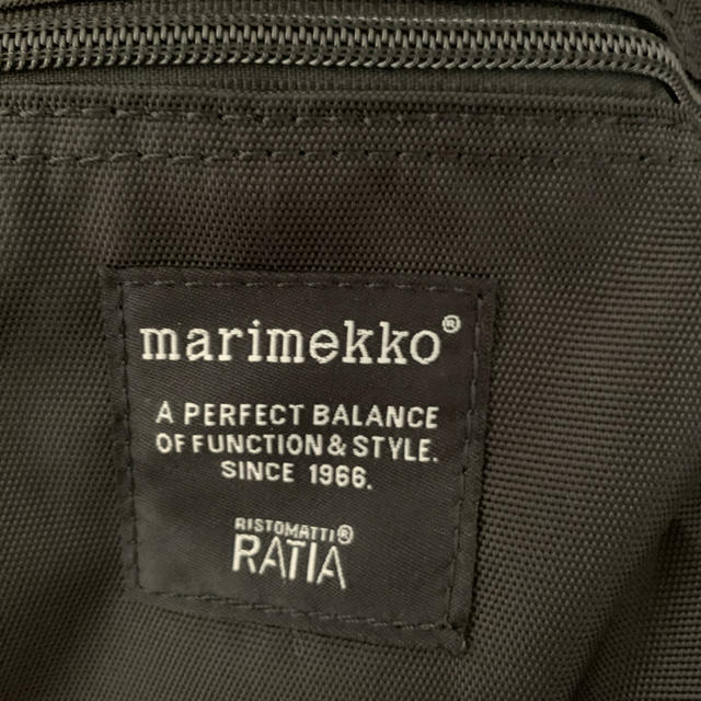 marimekko(マリメッコ)の【新品】マリメッコ リュック バディ ブラック marimekko buddy レディースのバッグ(リュック/バックパック)の商品写真