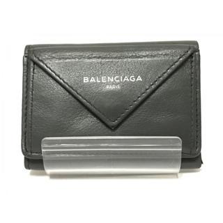 Balenciaga - 【美品】BALENCIAGA 折り財布 ペーパーミニウォレット グレー