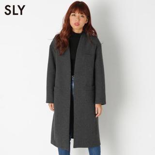 スライ(SLY)の☆美品☆ SLY ノーカラーコート(チェスターコート)