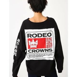 RODEO CROWNS - ロデオクラウンズ ロゴロンT黒