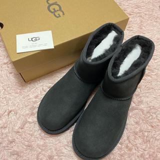 アグ(UGG)のUGG ブーツ 黒 8サイズ25㎝ 新品未使用 正規品 箱付き(ブーツ)