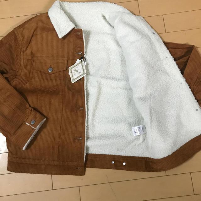 GRL(グレイル)のグレイル コーデュロイジャケット(マスタード) レディースのジャケット/アウター(Gジャン/デニムジャケット)の商品写真