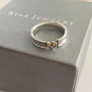 スタージュエリー(STAR JEWELRY)のStar Jewelry シルバー/K18 ダイヤリング(リング(指輪))