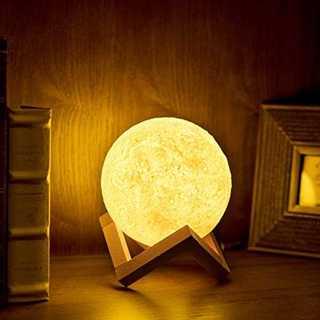 13cm間接照明 月のランプ 屋内インテリア照明 3Dプリント USB充電式 無