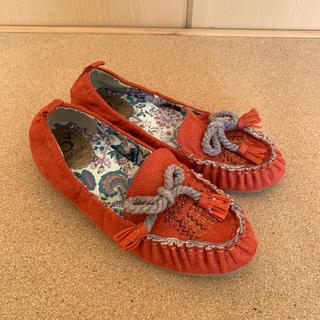 アシナガオジサン(あしながおじさん)のbyあしながおじさん  ローファー スウェード 23.5センチ(ローファー/革靴)