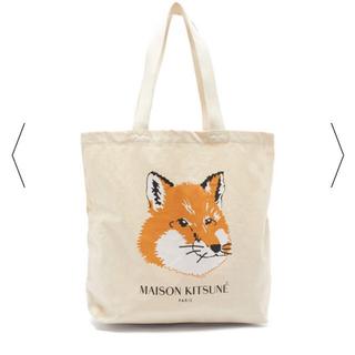 MAISON KITSUNE' - MAISON KITSUNE キャンパス トートバッグ 新品 確実正規品