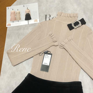 René - 2019年今期 rene♡ 新品未使用♡ 試着のみ フリルニット34
