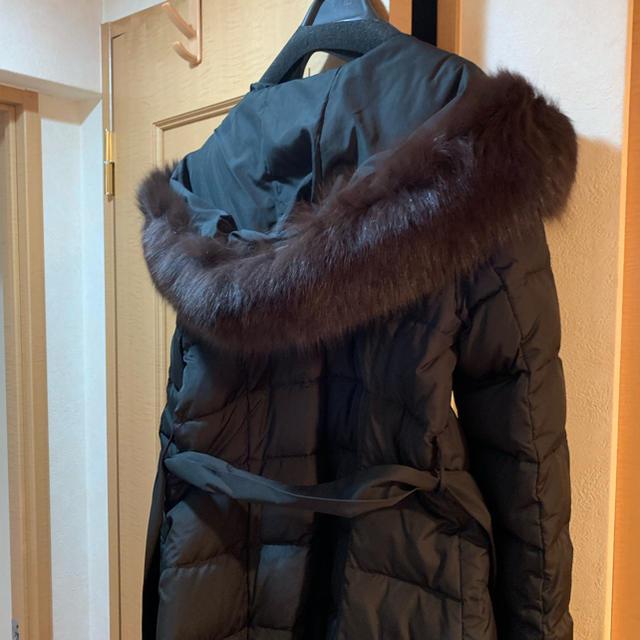 JUSGLITTY(ジャスグリッティー)の新品タグ付き★ジャスグリッティー  ダウンコート ブラック ファー レディースのジャケット/アウター(ダウンコート)の商品写真
