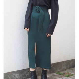 ムルーア(MURUA)の ✨タグ付き✨MURUA ベルテッドペンシルスカート グリーン(ひざ丈スカート)
