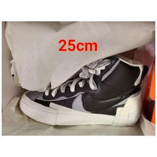 ナイキ(NIKE)の25cm Sacai × Nike Blazer Mid Black(スニーカー)
