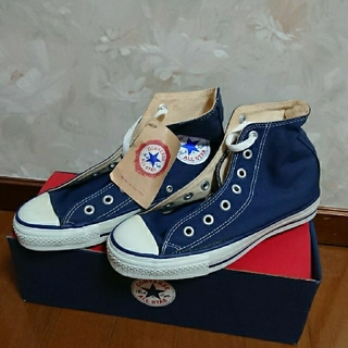 コンバース(CONVERSE)のCONVERSE  ALL STAR  HI NAVY   USA(スニーカー)