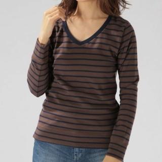 ベイフロー(BAYFLOW)のストレッチスムースVネック Tシャツ(Tシャツ(長袖/七分))