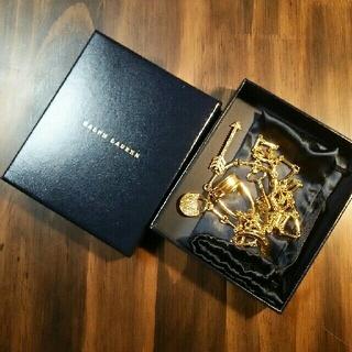 Ralph Lauren - ラルフローレン ネックレス ゴールド ロング 箱、袋付き