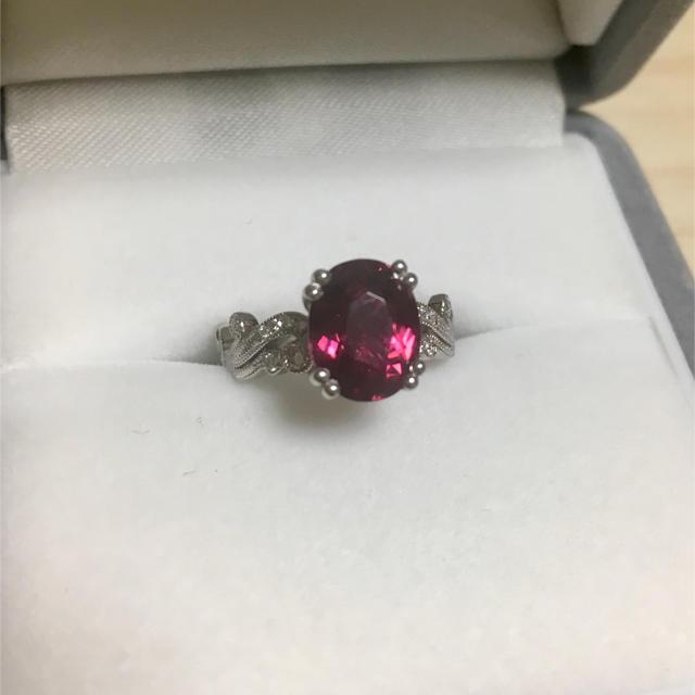 ダイヤモンド×ピンクトルマリン リング Pt900 2.33ct 0.209ct レディースのアクセサリー(リング(指輪))の商品写真