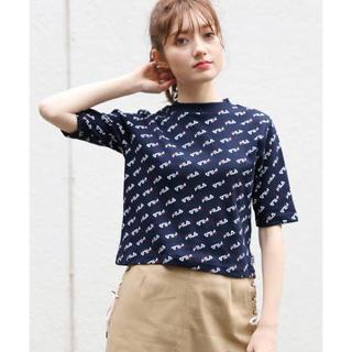 ヘザー(heather)のHeather×FILA コラボTシャツ ネイビー(Tシャツ(半袖/袖なし))