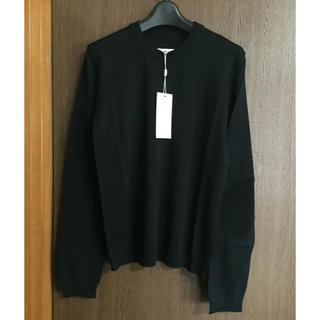 マルタンマルジェラ(Maison Martin Margiela)の黒XL新品50%off マルジェラ レディース エルボーパッチ ニット(ニット/セーター)