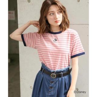 ヘザー(heather)のHeather ディズニーキャラクターリンガーT ピンク(Tシャツ(半袖/袖なし))