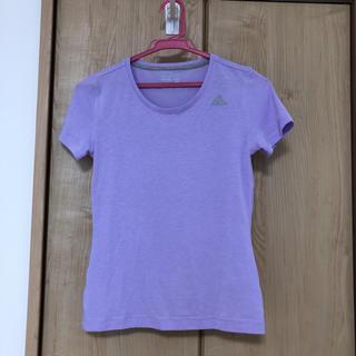 アディダス(adidas)のアディダスパープル半袖T(adidas)(Tシャツ(半袖/袖なし))