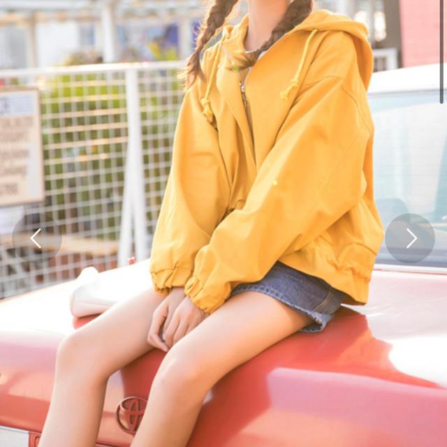 WEGO(ウィゴー)の【タグ付き】マウンテンパーカー イエロー レディースのジャケット/アウター(ブルゾン)の商品写真
