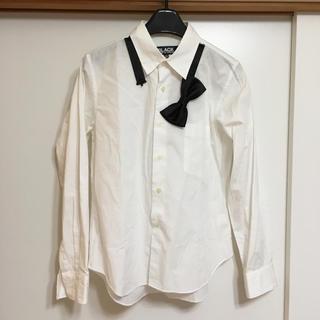 コムデギャルソン(COMME des GARCONS)のブラック コムデギャルソン 長袖シャツ(シャツ/ブラウス(長袖/七分))