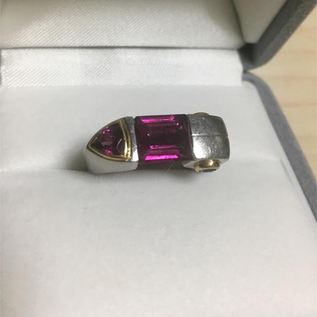 アメジスト リング Pt900 K18 2.73ct 0.33ct 11.5g レディースのアクセサリー(リング(指輪))の商品写真