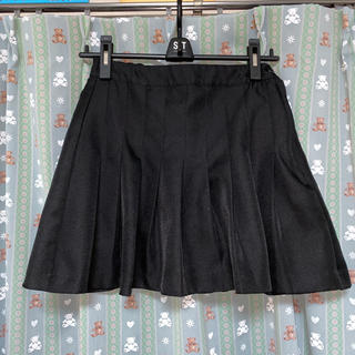 WEGO - WEGO プリーツミニスカート ブラック 黒