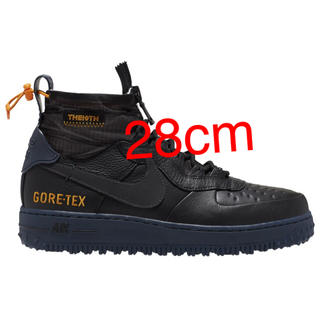 NIKE - NIkE AirForce1 high gore-tex ブラック 28cm