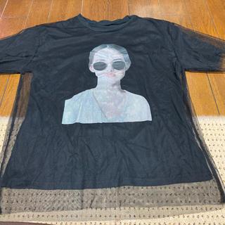 dholic - D HOLIC シースルー半袖Tシャツブラック