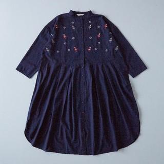 merlot - 最新作*フィリル 北欧テキスタイル刺繍ワンピース