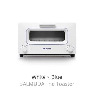バルミューダ(BALMUDA)のBALMUDA The Toaster K01E-W B(ホワイト☓ブルー) (調理機器)